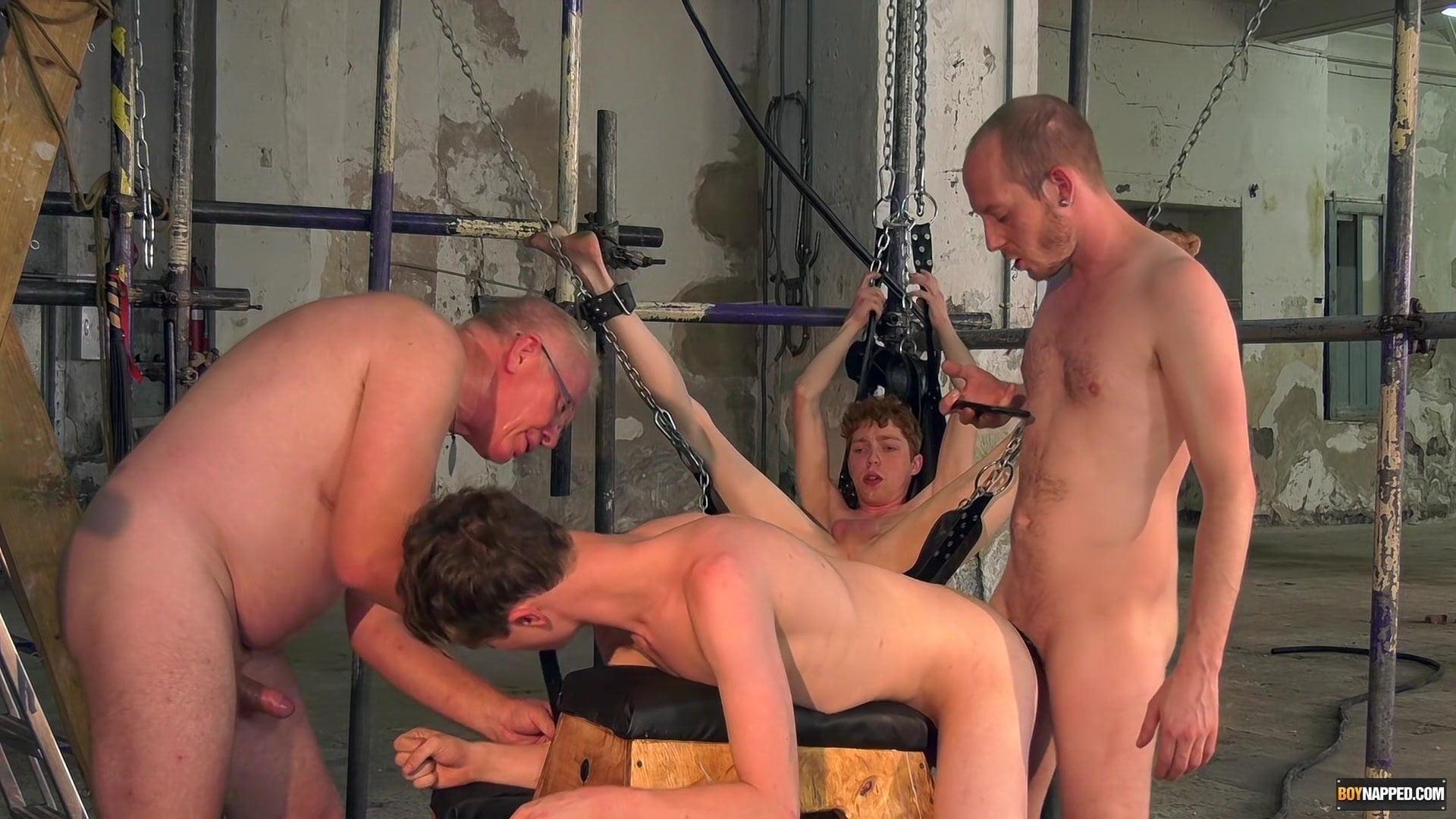 bondage uncut outdoor Bareback