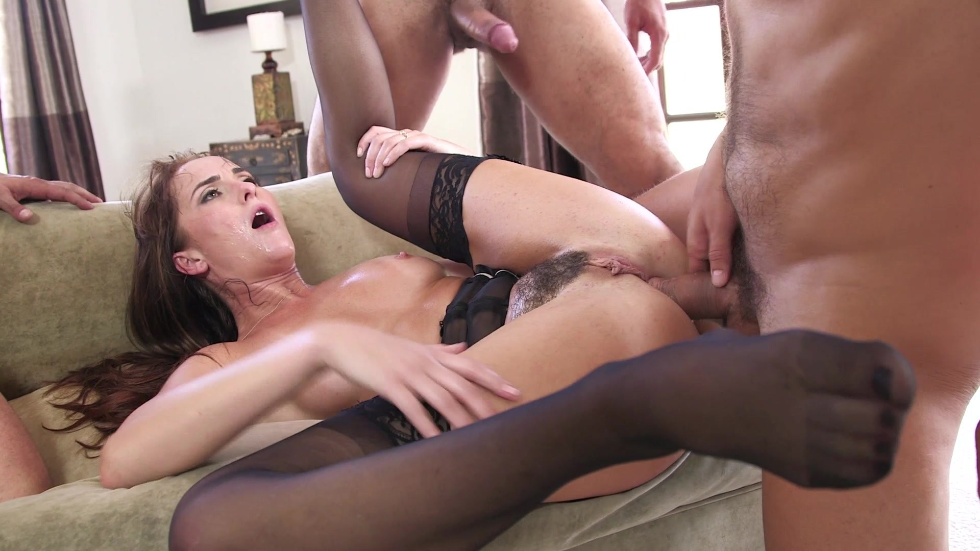 Gangbang slut mmf drilled