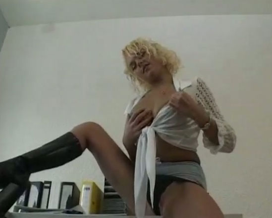 Solo lingerie footjob drilled