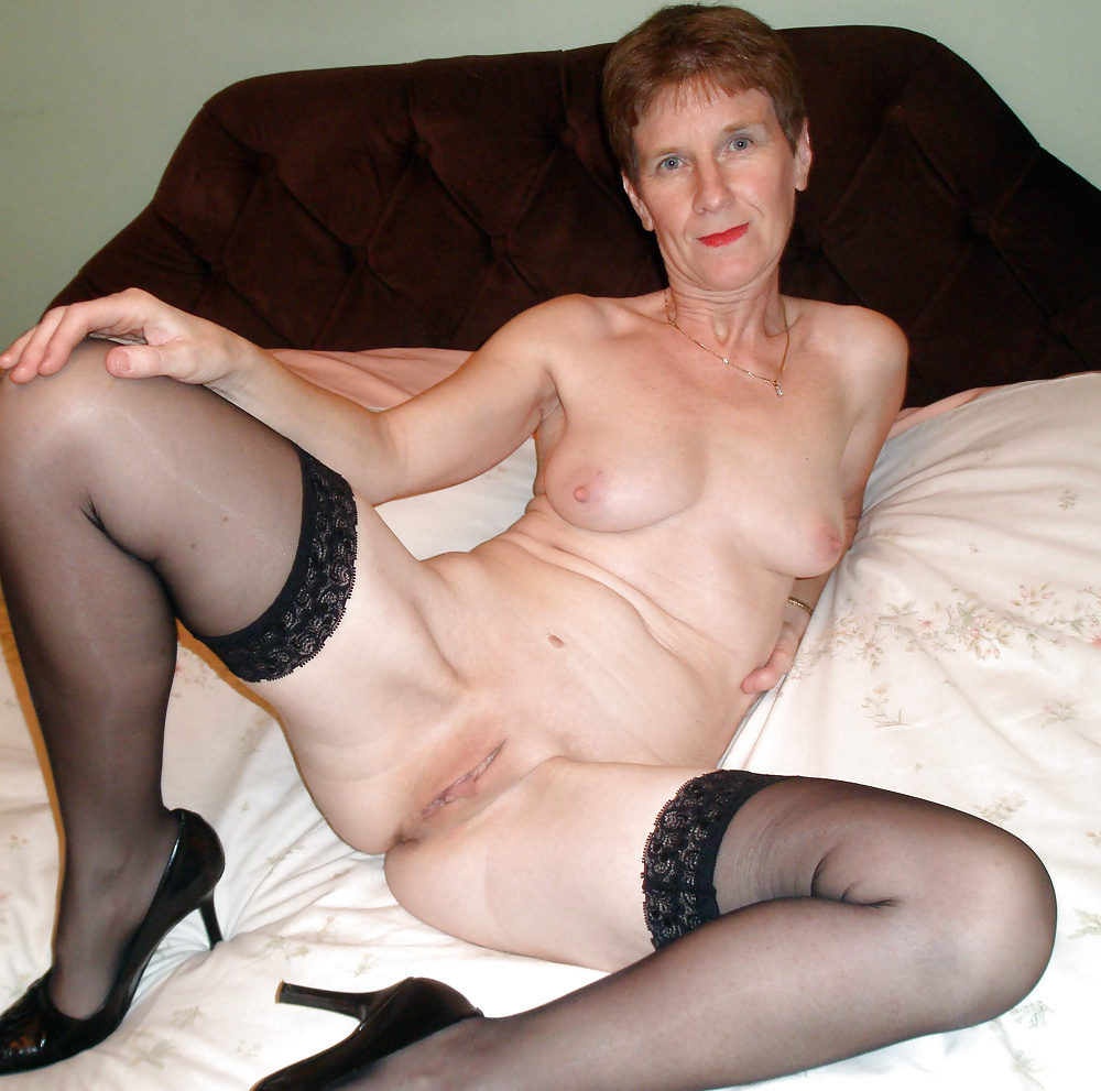 horny Pantyhose boobs grannies