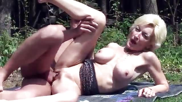 Grannies outdoor riding twink