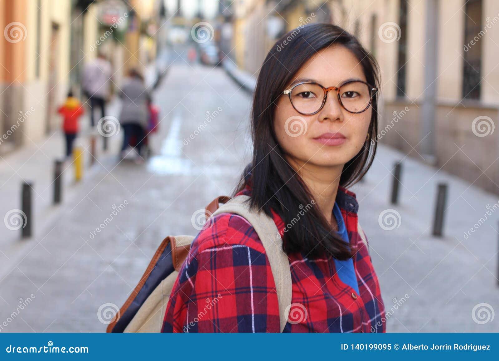 outdoor asian watching Closeup