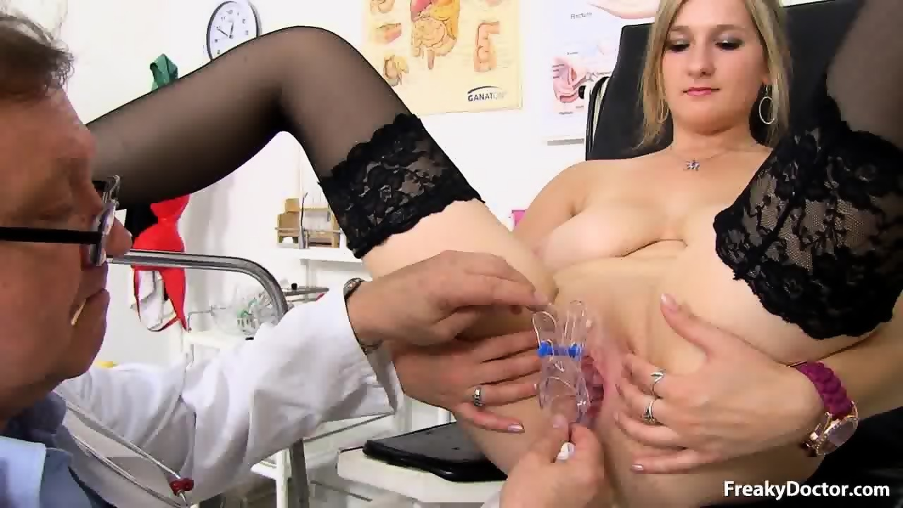 sexy Blonde doctor lingerie