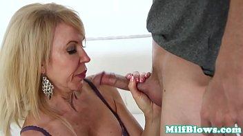 Cock sucking curvy lingerie secretary