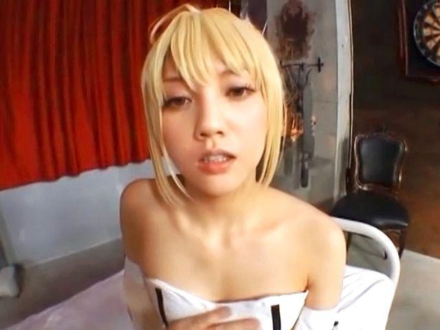 watching Blonde POV asian