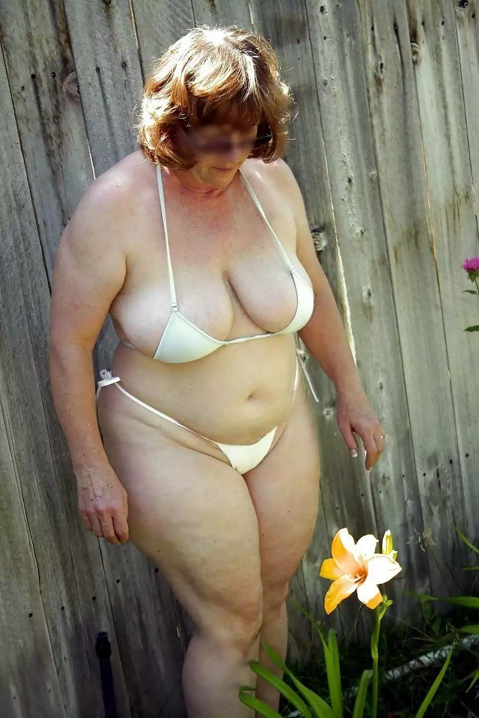 woman Chubby outdoor bbc