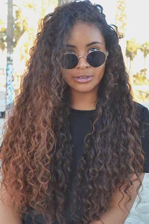 Long hair asshole curly sensual