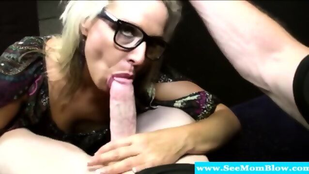 Kissing glasses sucking dick old