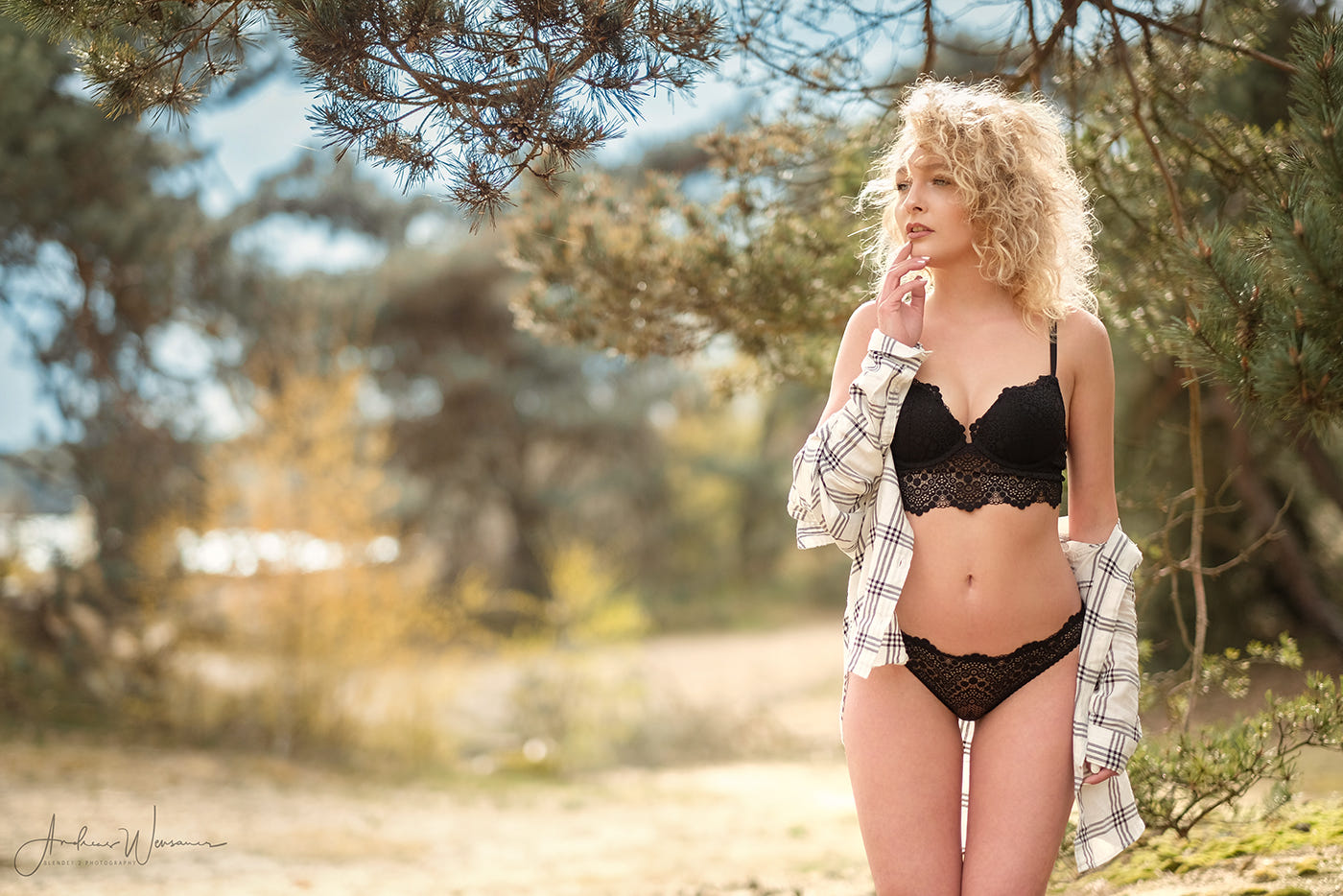 shared Curly blonde lingerie