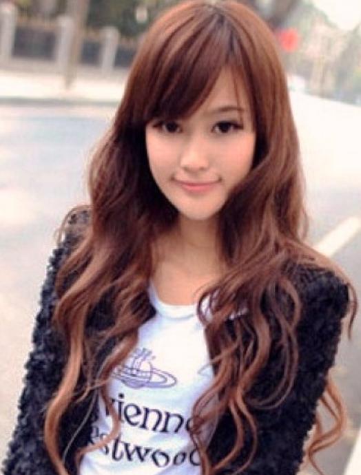 hair curly screaming long Asian