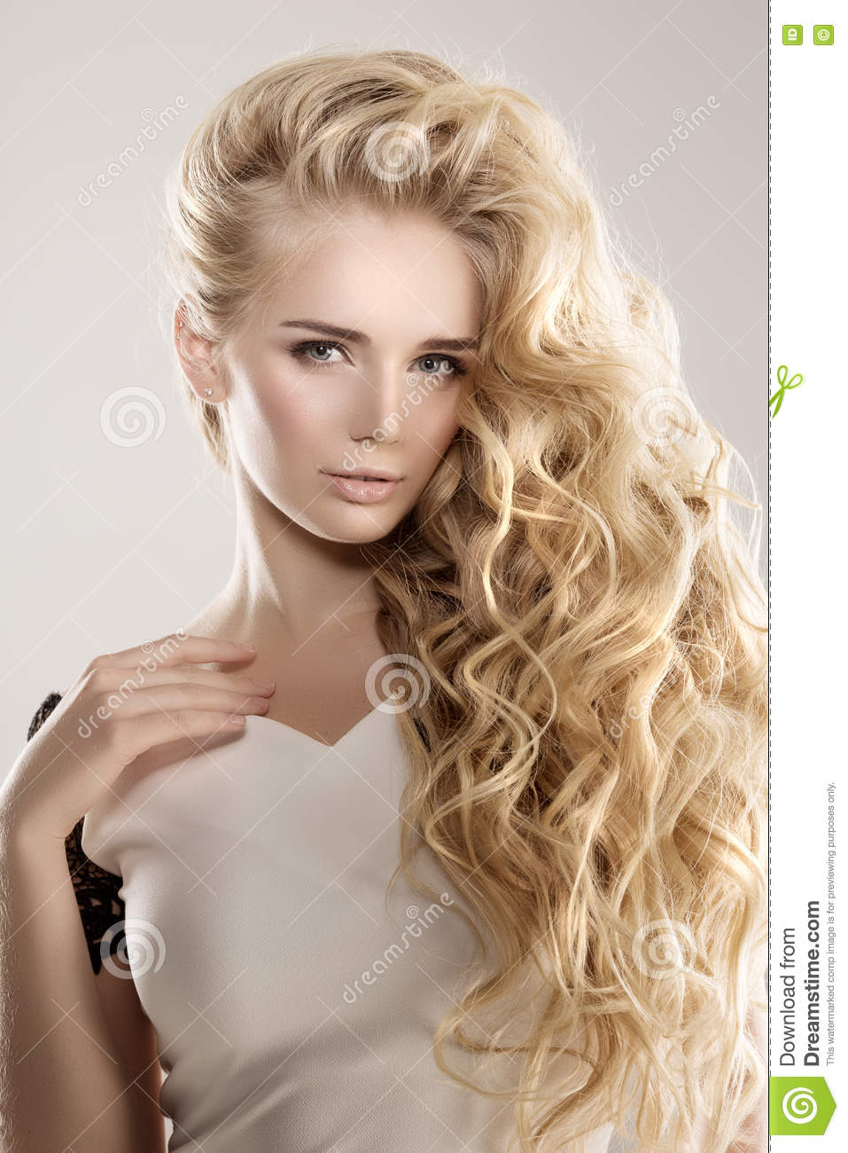 shared Blonde long hair curly