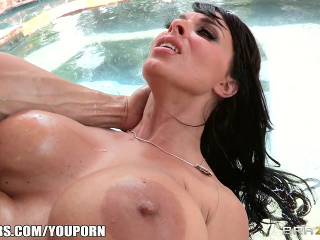 Glasses lesbian outdoor solo