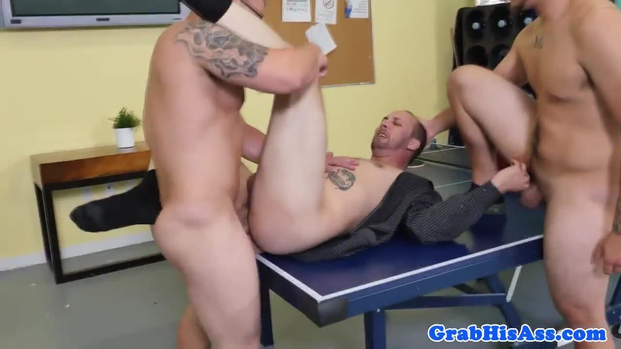 anal office Gay strip