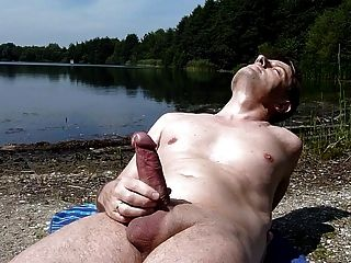 outdoor bdsm Cumshot watching