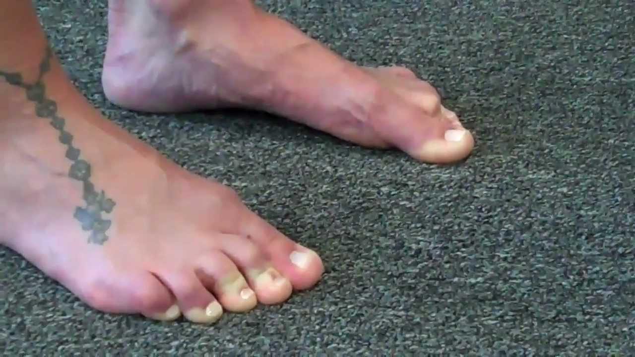 Drilled shared muscle footjob