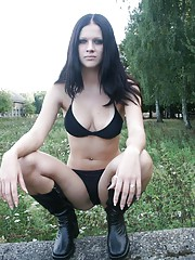 amateur strapon outdoor Girl