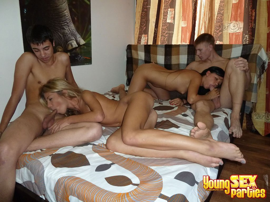 drunk Lingerie foursome sexy