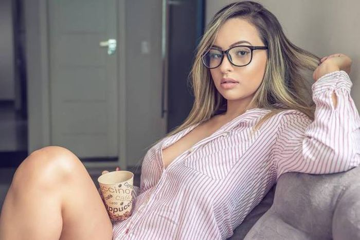 glasses dick hot Model sucking