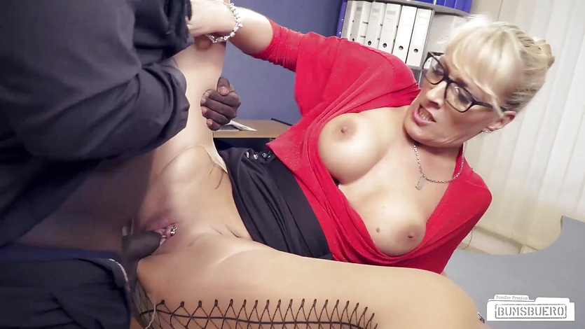 gay saggy Office throat tits