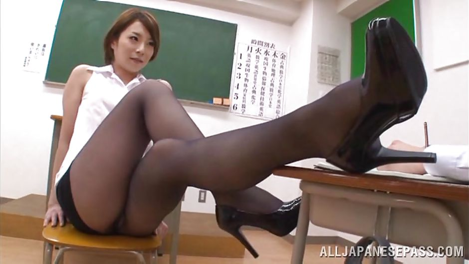brunette Pantyhose students girl