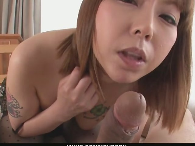 POV shaved Wanking asian